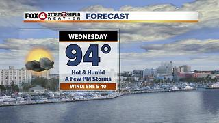 Hot & Humid With Limited Storm Chances 7-25 - Video