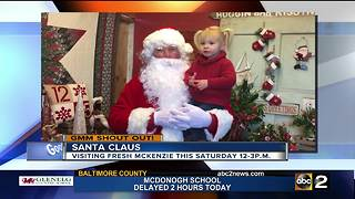 Good morning from Santa Claus at Fresh McKenzie - Video