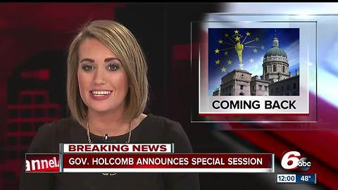 Ind. Gov. Eric Holcomb to call for special legislative session