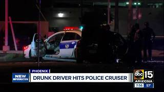 Police arrest driver for rear-ending Phoenix police cruiser - Video