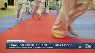 Valley Karate studio offers live stream classes