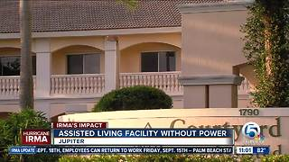 Assisted living facility without power in Jupiter - Video