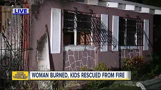 One adult and two children injured in Hillsborough County house fire - Video