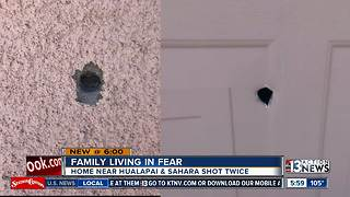 Las Vegas family living in fear after home shot twice - Video