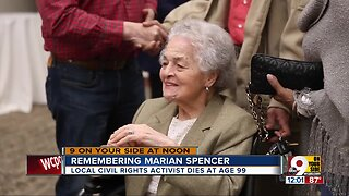 Civil rights pioneer Marian Spencer dies at age 99