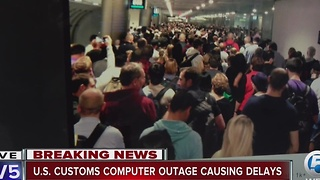 US Customs and Border Protection outage affects South Florida travelers - Video