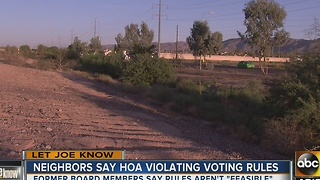 Let Joe Know: Neighbors say HOA is violating their voting rules - Video