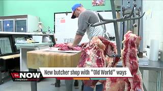 New butcher shop using