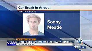 Port St. Lucie man charged in car burglary spree - Video