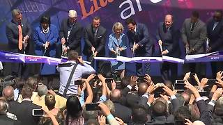 Ribbon cutting at Little Caesars Arena - Video
