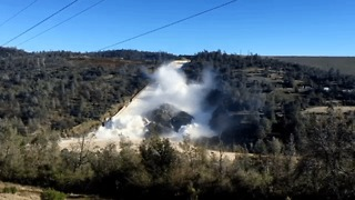 Close-up View Of Oroville Spillway Before Flows Reached River - Video