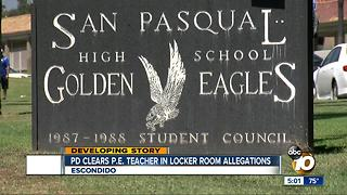 Escondido Police have no plans to file charges against teacher - Video