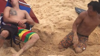 Beach Chair Fall Prank - Video