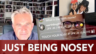 Vincent Fusca investigates Robert Kennedy Jr - RFK Jr touching nose!