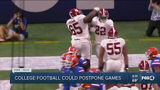 College football possibly postponing games