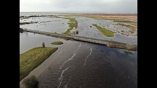 Clare River in Ireland breaks its banks after Storm Dennis