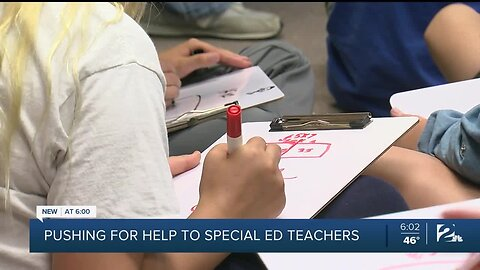Pushing for help to special ed teachers