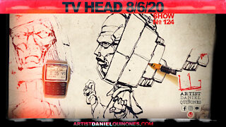 Fake news TV brainwash mind control 2 | Drawing TV Head without picking up pen