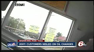 Hidden camera investigation got to the bottom of customers being misled on oil changes in 2007 - Video