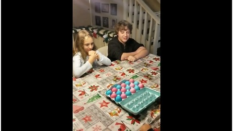 Kids Plays Egg Roulette For Baby Gender Reveal