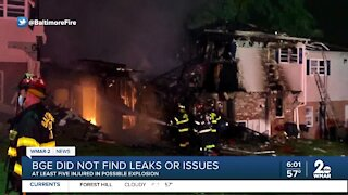BGE did not find leaks or issues