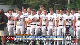 Blue Valley High School starts first football season since coach's death - Video