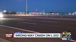 Gilbert wrong way crash being investigated - Video