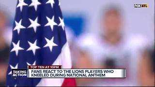 Fans react to Lions players who kneeled during National Anthem - Video