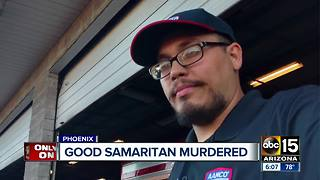 Good Samaritan murdered while trying to help a woman in Phoenix - Video