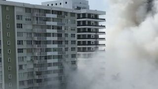 One Injured After Condo Collapses in Miami Beach - Video