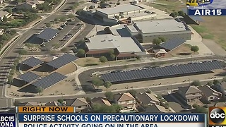 Several Surprise schools on lockdown - Video