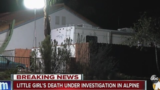 Little girl's death under investigation - Video