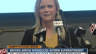 Broken Arrow introduces interim superintendent, Dr. Janet Dunlop - Video