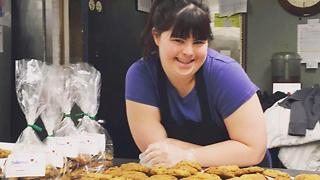 Girl With Downs Syndrome Starts Bakery - Video