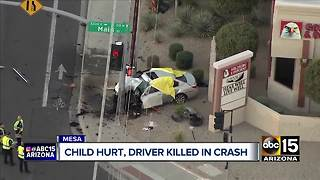 Driver killed, child hospitalized after car crashes into pole in Mesa