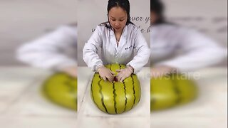 Fruit or buns? Talented baker makes dough into realistic looking fruit in China