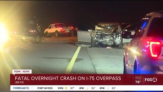 Overnight deadly crash I-75