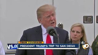 President Trump's trip to San Diego - Video