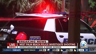 West Palm Beach police investigate overnight shooting - Video