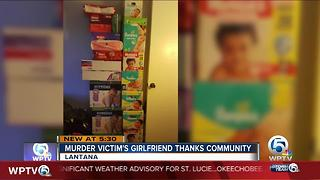Murder victim's girlfriend thanks community - Video