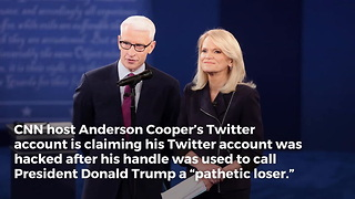 CNN's Anderson Cooper Caught Calling Trump Name on Twitter, Immediately Claims He Was Hacked - Video