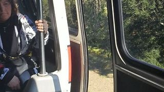Disney Monorail Doors Remain Open While Traveling With Passengers in Orlando Resort - Video