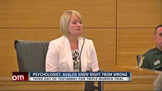 Psychologist: Avalos knew the difference between right and wrong - Video