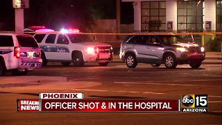 Police officer seriously injured in north Phoenix shooting