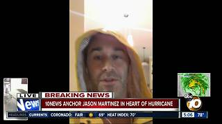 10News anchor caught in the heart of the harrowing hurricane - Video