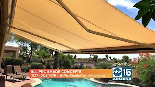 All Pro Shade Concepts can help you add space to your outdoor patio with shade!