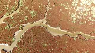 Unearthly drone footage of the Delta of Axios in Greece