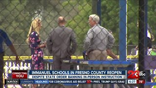 Immanuel Schools in Fresno County reopen despite state order banning in-person instruction