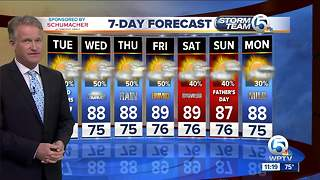 Latest Weather Forecast 11 p.m. Monday - Video