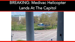 BREAKING: Medivac Helicopter Lands At The Capitol